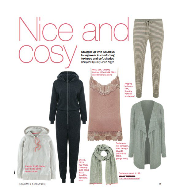 COCOA CASHMERE SCARF FEATURED IN SUNDAY EXPRESS