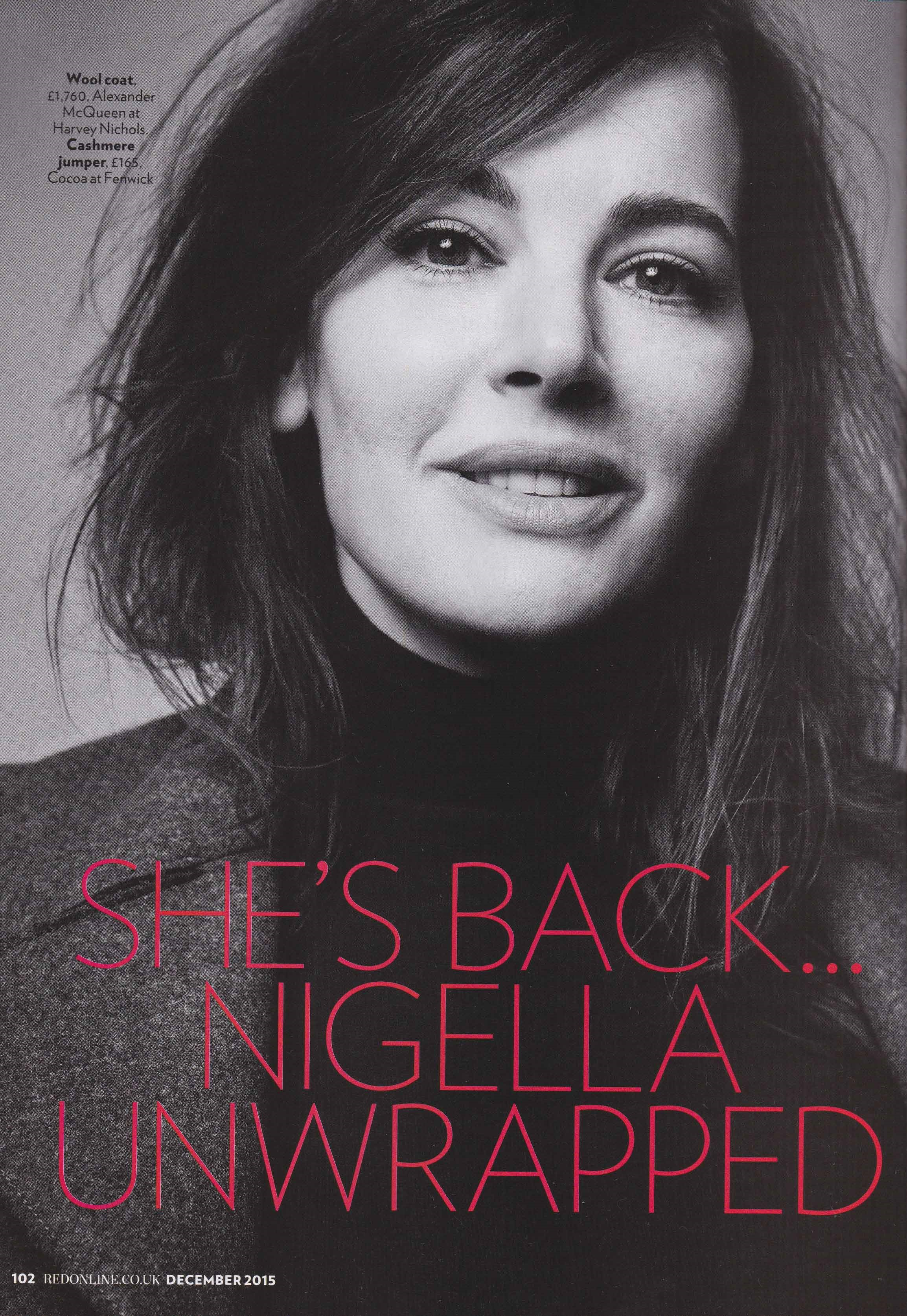 NIGELLA LAWSON WEARING COCOA BY FENWICK